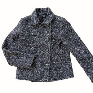 Victoria Secret Tweed Double Breasted Peacoat 2 SM